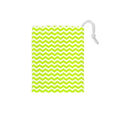 Chevron Background Patterns Drawstring Pouches (small)