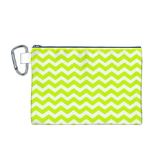 Chevron Background Patterns Canvas Cosmetic Bag (m)