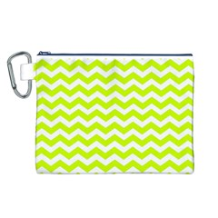 Chevron Background Patterns Canvas Cosmetic Bag (l)