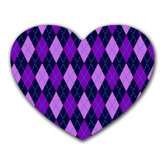 Static Argyle Pattern Blue Purple Heart Mousepads