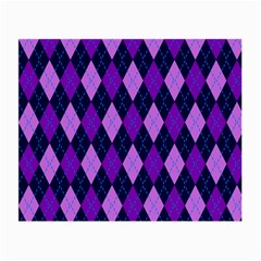 Static Argyle Pattern Blue Purple Small Glasses Cloth (2-Side)