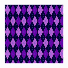 Static Argyle Pattern Blue Purple Medium Glasses Cloth (2-Side)