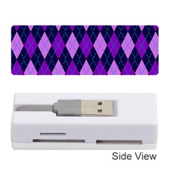 Static Argyle Pattern Blue Purple Memory Card Reader (stick)