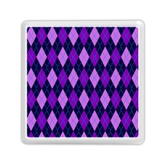 Static Argyle Pattern Blue Purple Memory Card Reader (Square)