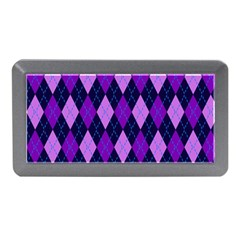Static Argyle Pattern Blue Purple Memory Card Reader (mini)