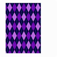 Static Argyle Pattern Blue Purple Large Garden Flag (Two Sides)