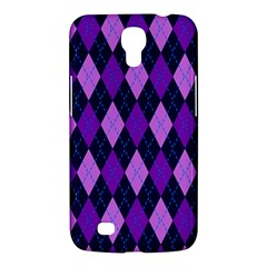 Static Argyle Pattern Blue Purple Samsung Galaxy Mega 6 3  I9200 Hardshell Case