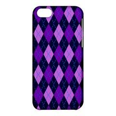 Static Argyle Pattern Blue Purple Apple iPhone 5C Hardshell Case