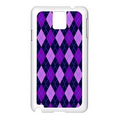 Static Argyle Pattern Blue Purple Samsung Galaxy Note 3 N9005 Case (white)