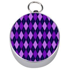Static Argyle Pattern Blue Purple Silver Compasses