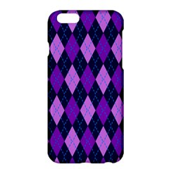 Static Argyle Pattern Blue Purple Apple Iphone 6 Plus/6s Plus Hardshell Case