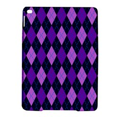 Static Argyle Pattern Blue Purple Ipad Air 2 Hardshell Cases
