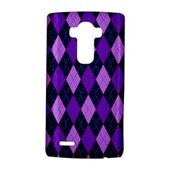 Static Argyle Pattern Blue Purple LG G4 Hardshell Case
