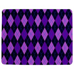 Static Argyle Pattern Blue Purple Jigsaw Puzzle Photo Stand (Rectangular)