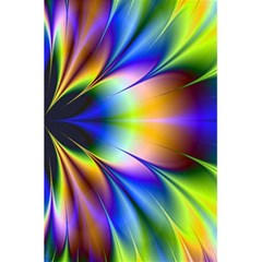 Bright Flower Fractal Star Floral Rainbow 5 5  X 8 5  Notebooks