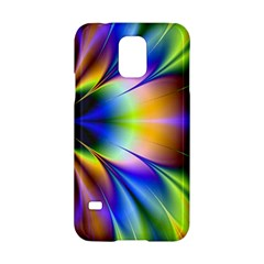 Bright Flower Fractal Star Floral Rainbow Samsung Galaxy S5 Hardshell Case