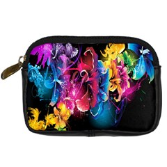 Abstract Patterns Lines Colors Flowers Floral Butterfly Digital Camera Cases