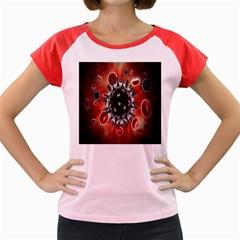 Cancel Cells Broken Bacteria Virus Bold Women s Cap Sleeve T Shirt