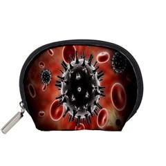 Cancel Cells Broken Bacteria Virus Bold Accessory Pouches (Small)
