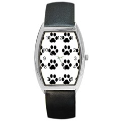 Claw Black Foot Chat Paw Animals Barrel Style Metal Watch