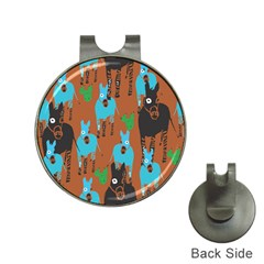 Zebra Horse Animals Hat Clips With Golf Markers