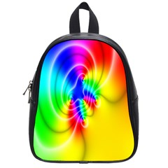 Complex Orange Red Pink Hole Yellow Green Blue School Bags (small)