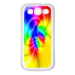 Complex Orange Red Pink Hole Yellow Green Blue Samsung Galaxy S3 Back Case (white)