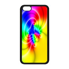 Complex Orange Red Pink Hole Yellow Green Blue Apple iPhone 5C Seamless Case (Black)