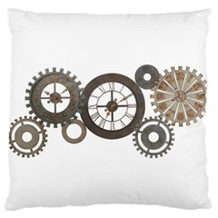 Hour Time Iron Large Flano Cushion Case (one Side)
