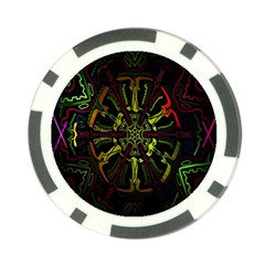 Inner Peace Star Space Rainbow Poker Chip Card Guard