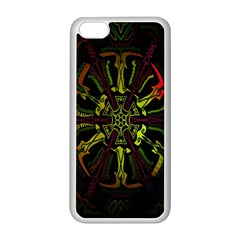 Inner Peace Star Space Rainbow Apple iPhone 5C Seamless Case (White)