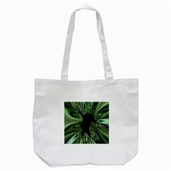 Hole Space Silver Black Tote Bag (White)