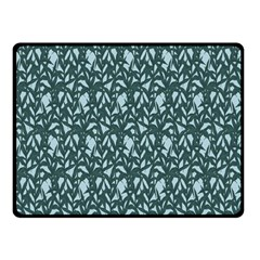 Interstellar Blog Tree Leaf Grey Double Sided Fleece Blanket (small)