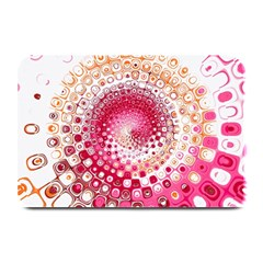 Hple Plaid Chevron Pink Red Plate Mats