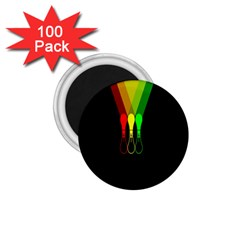 Lamp Colors Green Yellow Red Black 1.75  Magnets (100 pack)