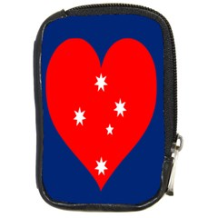 Love Heart Star Circle Polka Moon Red Blue White Compact Camera Cases