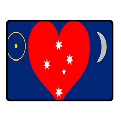 Love Heart Star Circle Polka Moon Red Blue White Double Sided Fleece Blanket (small)