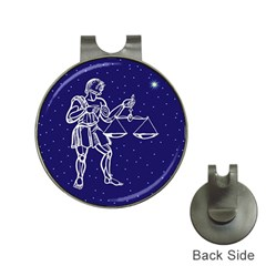 Libra Zodiac Star Hat Clips With Golf Markers