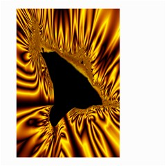 Hole Gold Black Space Small Garden Flag (two Sides)