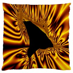 Hole Gold Black Space Large Cushion Case (Two Sides)
