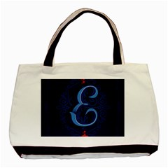 Marquis Love Dope Lettering Blue Red Alphabet E Basic Tote Bag (two Sides)