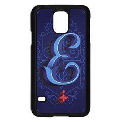 Marquis Love Dope Lettering Blue Red Alphabet E Samsung Galaxy S5 Case (black)
