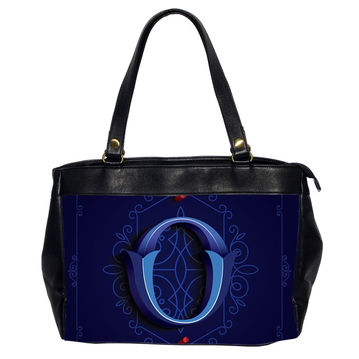 Marquis Love Dope Lettering Blue Red Alphabet O Office Handbags (2 Sides)