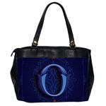 Marquis Love Dope Lettering Blue Red Alphabet O Office Handbags (2 Sides)  Back