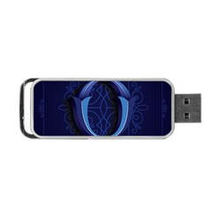 Marquis Love Dope Lettering Blue Red Alphabet O Portable USB Flash (Two Sides)