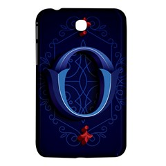 Marquis Love Dope Lettering Blue Red Alphabet O Samsung Galaxy Tab 3 (7 ) P3200 Hardshell Case