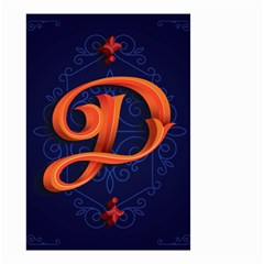 Marquis Love Dope Lettering Blue Red Orange Alphabet P Small Garden Flag (two Sides)