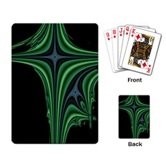 Line Light Star Green Black Space Playing Card