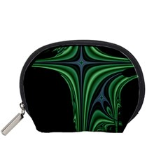 Line Light Star Green Black Space Accessory Pouches (Small)