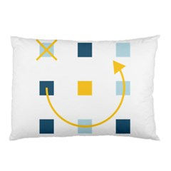 Plaid Arrow Yellow Blue Key Pillow Case